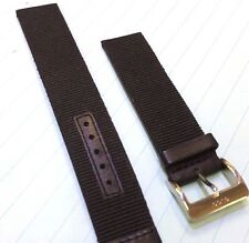 Gucci 18mm Genuine Replacement Nylon/Leather On Inside Watch Band