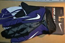 Nike Football Adult Vapor Jet 2.0 Magnigrip High Skill Glove Purple/Black LARGE