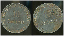 10 centimes , etablisements PEUGEOT  ,  VALLENTIGNEY  ( 25 )