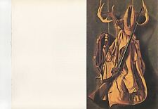 "1972 Vintage HUNTING ""THE HUNTER'S YELLOW JACKET, 1891"" LONG GUN GEAR Lithograph"