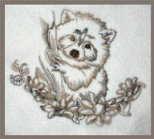1064:  Machine Embroidery Designs - Rocky - The Raccoon - Redwork
