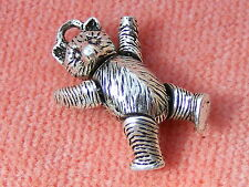 VINTAGE STERLING SILVER CHARM ARTICULATED TEDDY BEAR