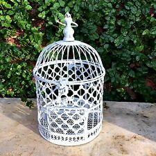 "Wire BIRD CAGE Birdcage Birdhouse House Decor Vtg Shabby Rustic 17.25"" H"