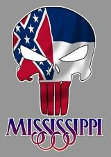 Mississippi Punisher, Mississippi State flag, Patriot sticker decal Truck window