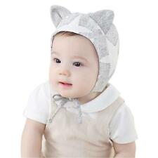 White Toddler Kid Baby Boy Girl Infant Cotton Soft Warm Beret Hat Cap Beanie N