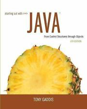 NEW Starting Out with Java 6th Edition by Tony Gaddis (Global Edition)