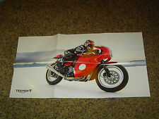 "2014 TRIUMPH MOTORCYCLES BROCHURE SHOWROOM 2-SIDED POSTER MINT! 16"" x 30"""