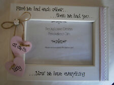 New Baby Girl Personalised Wooden Photo Frame 6x4