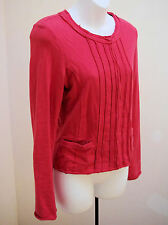 Club Monaco S/P Jacket Cardigan Muted Red Elle Sweater Top Small Snap Front
