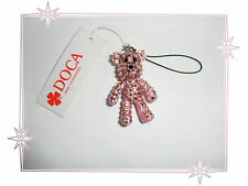 Bijou de Portable Fantaisie Ours Rose Articulé Strass Doca Fashion Jewelry