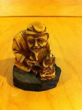Vintage Handcrafted in Italy Action Cheswick PA  Resin/wood 1950 Asian Man*