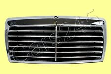 Front Grill Center Grille Chrome with case 13 rubbers MERCEDES W124 1985-1993