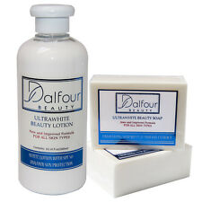 Dalfour Beauty Ultrawhite Set - Body Lotion with SPF50+ & Soap - NEW!!