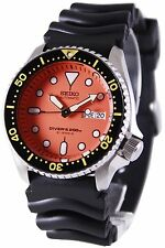 Seiko Automatic Diver Orange Dial 200M SKX011J1 SKX011J SKX011 Men's Watch