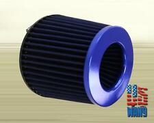"4"" Blue JDM Cold Air Oil Free Washable Filter for S2000 Prelude Accord TL TSX CL"