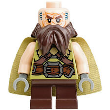 LEGO Minifigure - The Hobbit - DWALIN the Dwarf with Cape - New Loose