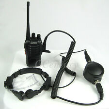 FBI Heavy Duty Tactical Throat Mic Headset For BAOFENG BF888 s BF666 s UV5R A093