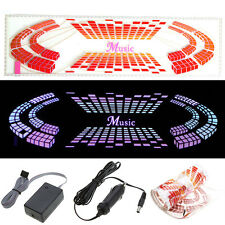 Car Sticker Music Rhythm LED EL Light Lamp Sound Activated Equalizer 90*25CM