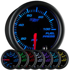 52mm GLOWSHIFT BLACK 7 COLOR LED FUEL PRESSURE GAUGE w SENDER