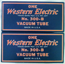 Western Electric 300B Tubes NOS Pair