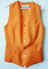 GILET chic orange satiné PINKY & DIANNE T34-36 état NEUF!