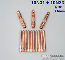 """13 pcs 10N31 Collet Body and 10N23 Collet Tig Welding WP-17/18/26 1.6mm 1/16"""""""