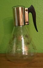 Vtg Glass Corning Corelle Coffee Carafe Fred Press COFFEE POT Gold Leaves ACCENT