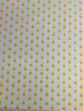 Fresh Market Pineapples Blue Yellow Riley Blake Fabric FQ + More 100% Cotton