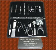 Professional Manicure Pedicure Set Tools 16 Pieces Kit New never used!