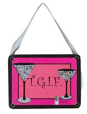 Wood Hang-Up~T.G.I.F.~THANK GOD IT'S FRIDAY GIRLS NIGHT OUT COUNTDOWN CALENDAR