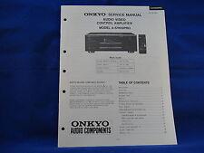 Onkyo A-SV610PRO Amplifier Service Manual