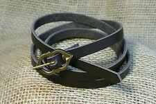 Languertel Belt long Leather brown 125cm High Medieval 1cm wide Children