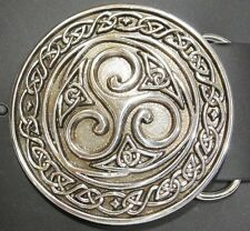 Triskel Celtic Design Belt Buckle High Polished Silver Finish Made in Ireland