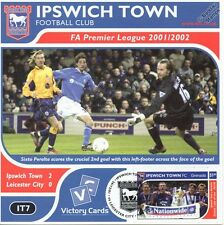 IPSWICH TOWN 2001-02 Leicester (Sixto Peralta) Football Stamp Victory Card #107