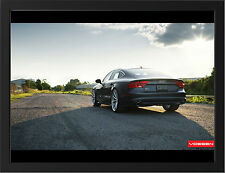 AUDI A7 VOSSEN WHEELS NEW A3 FRAMED PHOTOGRAPHIC PRINT POSTER