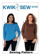Kwik Sew K4190 Pattern Misses Top XS-XL BN