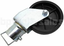 "1200lbs 6"" Trailer Swirl Jack Caster Wheel w/ Safety Pin Boat Hitch Replacement"