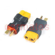 2X Female XT60 to Male Deans T Plug Lipo Battery Adapters for RC Jet Boat Copter
