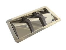 Stainless Steel Louvred Boat Hull Vent (210mm x 113mm)