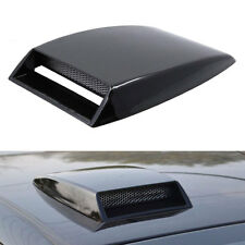 Blk Universal Car Decorative Air Flow Intake Hood Scoop Vent Bonnet Cover Trim
