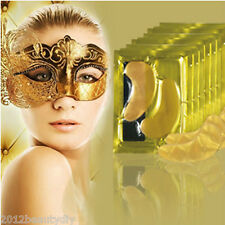 5pcs natural oro 24k colágeno anti - Aging Wrinkle Circles Eye Mask