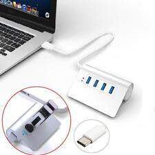 Portátil 4 Puertos USB 3.1 Tipo C a 3.0 Hub Aluminio para nuevo Macbook