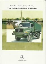 MERCEDES BENZ MILITARY TRUCK LORRY BROCHURE 2004