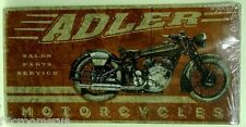 ADLER MOTORCYCLES metal sign parts and service vintage bike style ad german