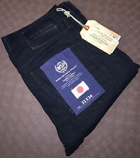 Ralph LAUREN DENIM & SUPPLY uomo slim fit Giappone CIMOSA JEANS NERO 31W / 34L
