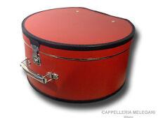 Cappelliera da viaggio Melegari diametro 40 cm rossa