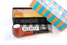 KIKO No.3 Vintage Meerschaum Lined Billiard Leather Clad Pipe NOS Unsmoked