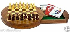 Artist Haat Sheesham Wood Travel Chess Board Magnetic Chess Board  Game Set