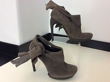 BALENCIAGA  New Grey Suede Leather Size 37 Uk 4 Bnwob Rrp £635 Shoe Boots