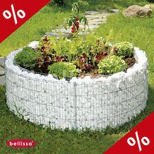 Hochbeet Blumentopf Gabione Höhe 40cm Ø 92 cm Gabionen Gartendekoration Bellissa